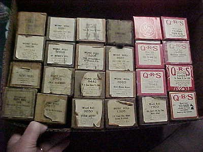 Lot 0F 24 Qrs Word Rolls / Piano Rolls Good Condition