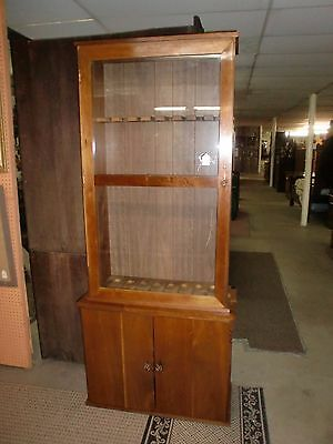 2 Glass Door Cabinet With Drawer 6 Gun Holder Cabinet 9898