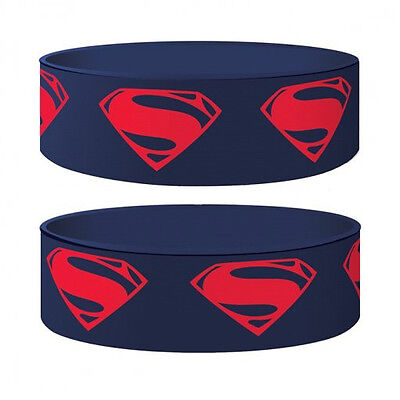 Gummi Armband MAN OF STEEL - Superman Logo - DC Comics ca65 x 24mm NEU Wristband