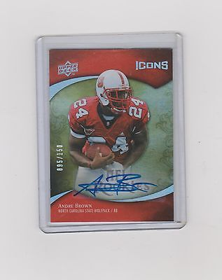 2009 Andre Brown  Icons Rookie Auto