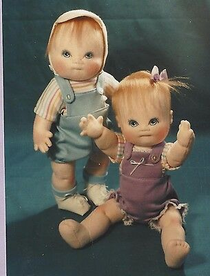 """12""""cloth/soft Sculpture Jointed Boy/girl Baby/toddler Doll&overalls&hat Pattern"""
