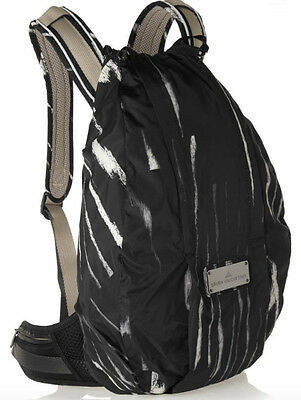 Stella Mccartney for Adidas Padded Shell Backpack Abstract Monochrome Print