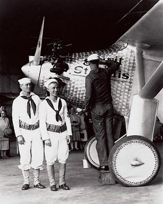 Spirit of St. Louis Airplane & Sailors 1927 16x20 Silver Halide Photo Print