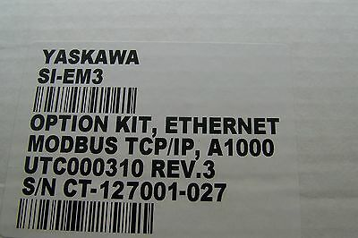 NIB YASKAWA SI-EM3 AC Drive 1000 Series Option MODBUS TCP/IP +Manual TypeSI-EM3