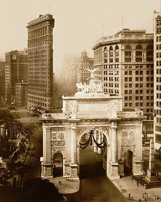 Victory Arch & Flatiron, New York City 1919 16x20 Silver Halide Photo Print