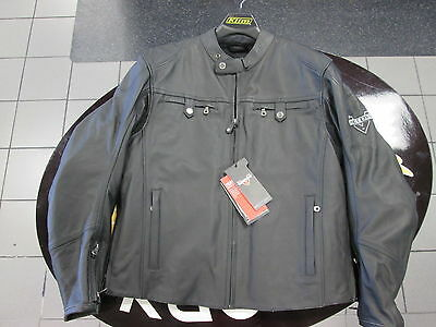 VICTORY Mens Classic Leather Jacket XXL 286320312
