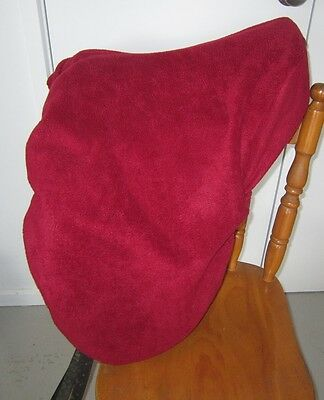 Horse Saddle cover DEEP RED with FREE EMBROIDERY Australian Made Protection