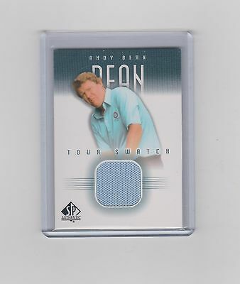 2001 Andy Bean Sp Authentic Tour Swatch