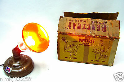 1950s PENETRAY INFRARED HEAT LAMP STANDING/HANGING REX RAY INFRA RED 250w BULB