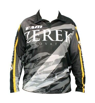Team Zerek Fishing Shirt - Long Sleeved - UPF25+ Comfy,Light with Collar