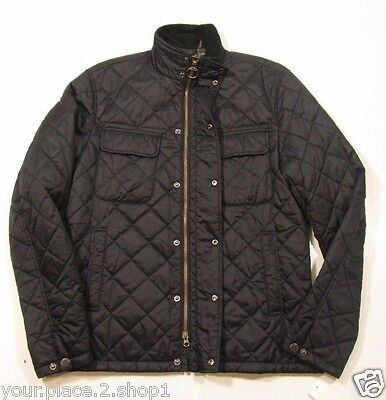 Barbour Men's Navy Blue Laggan Quilted Jacket