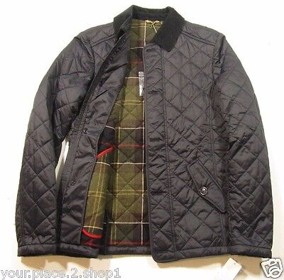 Barbour Men's Navy Blue Fortnum Quilt Quilted Jacket Size Small