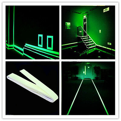 Luminous Light Emergency Fire Exit Warning Sign Stickers Safety Notice On Floor