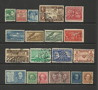 HAVANA ~ 1930s-1940s COMMEMORATIVES (POSTALLY USED) SMALL COLLECTION