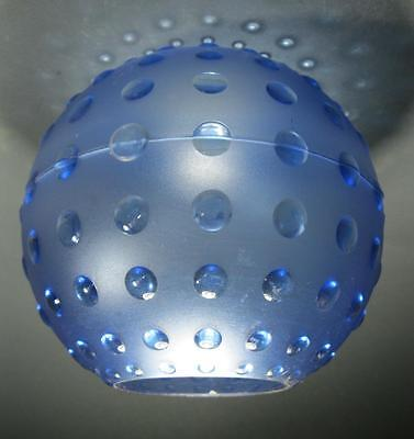 Retro 60s-70s psychedelic blue hobnail plastic ceiling light shade kartell #2