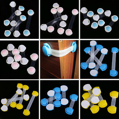 5pcs Child Baby Kids Toddler Care Safety Drawer Door Cabinet Wardrobe Lock Latch