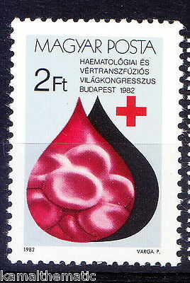 Hungary MNH 1v, Blood Donation, Red Cross, Medicine