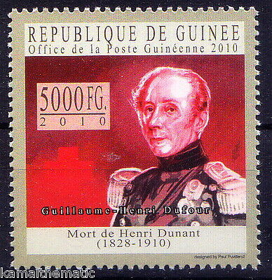 Guinee Rep. MNH, Guillaume-Henri Dufour,  Swiss army officer, Bridge Engineer &
