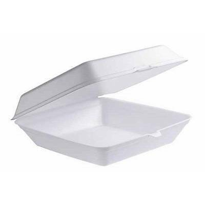 100 Foam Clam DINNER box Take Away Containers Boxes, super cheap