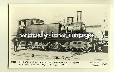 pp1716 - Central Railway Engine no 7 at Newport isle of Wight - Pamlin postcard