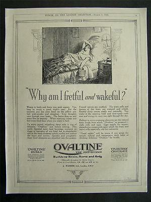 1920s advert for OVALTINE tonic food beverage why am I fretful and wakeful? 1926