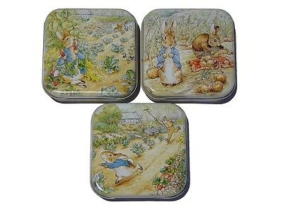 Peter Rabbit & Friends - Square Hinged Treat Tin - 3 Designs To Choose From