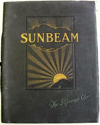 SUNBEAM Cars Original Sales Brochure Mar 1926 Regd. No.297/2