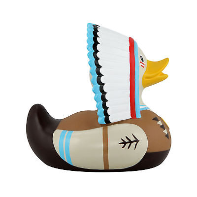 Chieftan Mini Bud Duck Pvc Rubber Bath Ducky Novelty Collectors Native American