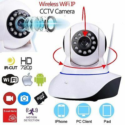 Wireless WiFi HD 720P Home Security Network CCTV IP Camera IR Night Vision Cam