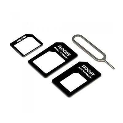 Noosy 4 in 1 Sim Card Adapter Pack | Nano, Micro and Standard Sizes + Eject Tool