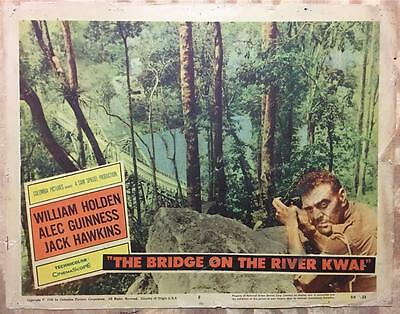 Jack Hawkins with a view to the Bridge on the River Kwai 1958 # 8 lobby card 932