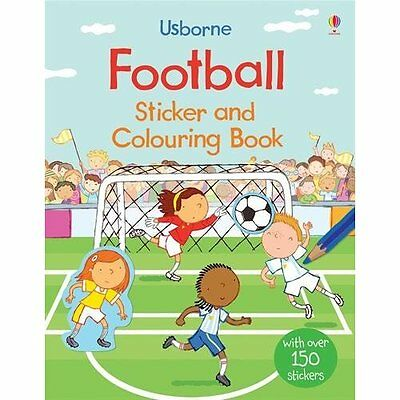 Football Sticker and Colouring Book (First Colouring Bo - Paperback NEW Sam Tapl