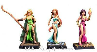 Fenryll Fantasy Mini Resin 28mm Female Elemental Mages Pack MINT
