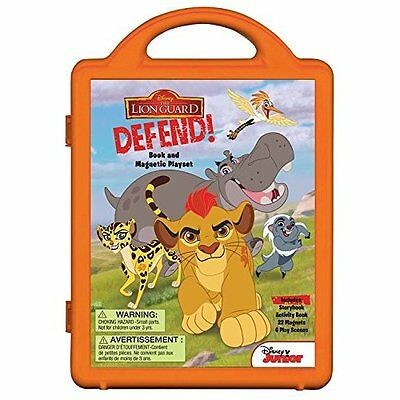 The Lion Guard: Lion Guard, Defend! (Book and Magnetic  - Hardcover NEW Disney B