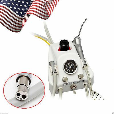 Portable Dental Turbine Unit 4Hole Work With Air Compressor High Handpiece Q1MX