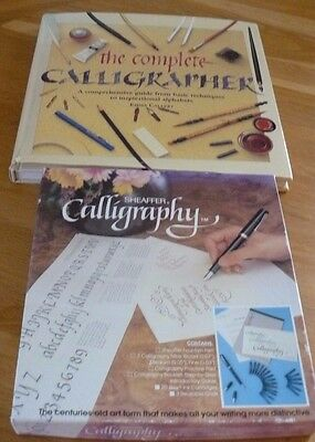 Sheaffer Calligraphy Set And Complete Calligrapher Guide Book