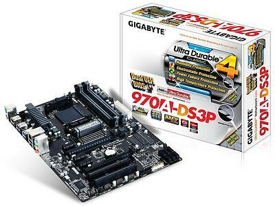 Gigabyte GA-970A-DS3P AMD Socket AM3+ Motherboard AMD 970 Chipset 4x DDR3 Slots
