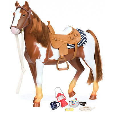"""Our Generation Trail Riding 20"""" Appaloosa Horse & Accessories NEW"""