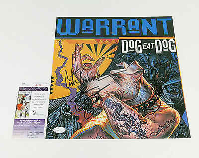 Warrant Signed Album Cover Photo Dog Eat Dog 4 JSA Autos