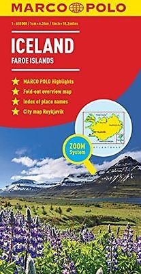 **NEW** - Iceland Marco Polo Map (Map) 3829767234