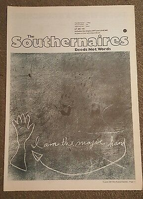 Southernaires deeds not words 1991 press advert Full page 30 x 42 cm mini poster