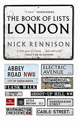 **NEW** - The Book Of Lists London (Paperback) 1841959340