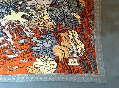 VINTAGE LIBERTY SILK SCARF.  THE GARDEN!  VGC.  27 x 27 INCHES.  BEAUTIFUL!