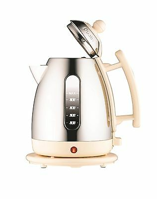 Dualit 72402 Cordless Jug Kettle 1.5 L - Stainless Steel with Cream Trim NEW