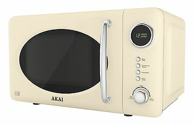 Akai A24006C Digital Microwave 5 Power Levels 700 W - Cream Solo Microwave NEW