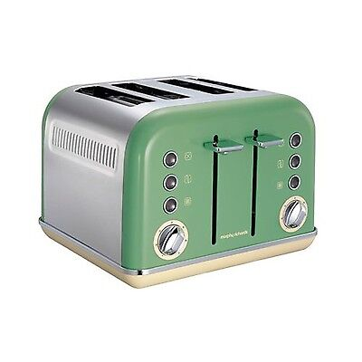 Morphy Richards 242006 Accents 4 Slice Toaster - Sage Green NEW