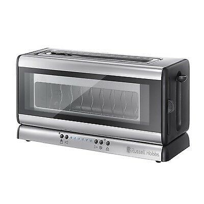 Russell Hobbs 21310 Glass Line Two Slice Toaster NEW