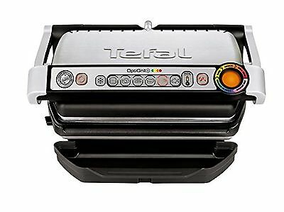 Tefal GC713D40 Stainless Steel OptiGrill Plus Health Grill with Automatic... NEW