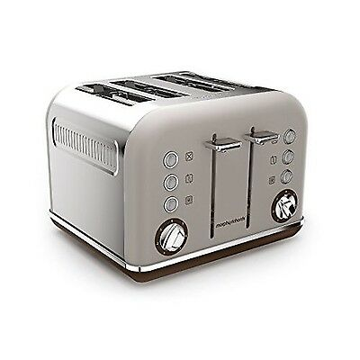 Morphy Richards 242102 Accents Special Edition 4 Slice Toaster - Pebble NEW