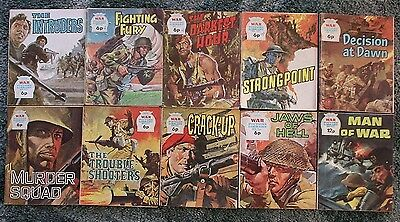 10 X War Picture Library,war Comics,bulk Lot Collection,2